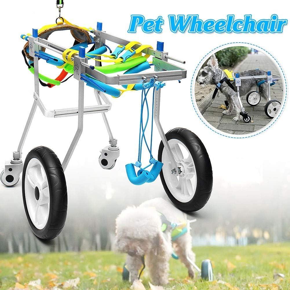 BEST WALKING Silla De Ruedas para Perros Ajustable Ortopedico Scooter para Mascotas Patas Traseras Rehabilitación para Perros Y Gatos (1-50kg)