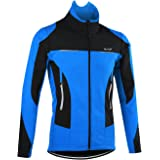 OUTON Men's Cycling Jacket Windproof Breathable Lightweight Reflective Warm Thermal Stand-up Collar Waterproof MTB Mountain Bike Jacket
