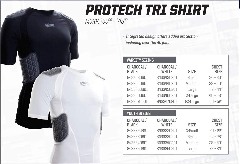 Black Schutt Sports ProTech Padded Football Shirt Varsity