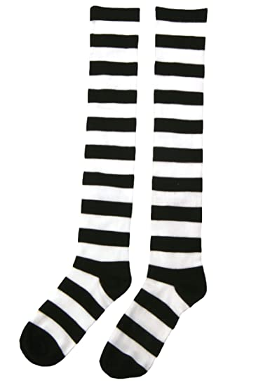 4c8f91fcb Image Unavailable. Image not available for. Color  Fun Costumes Exclusive  Striped Knee High Witch Socks ...
