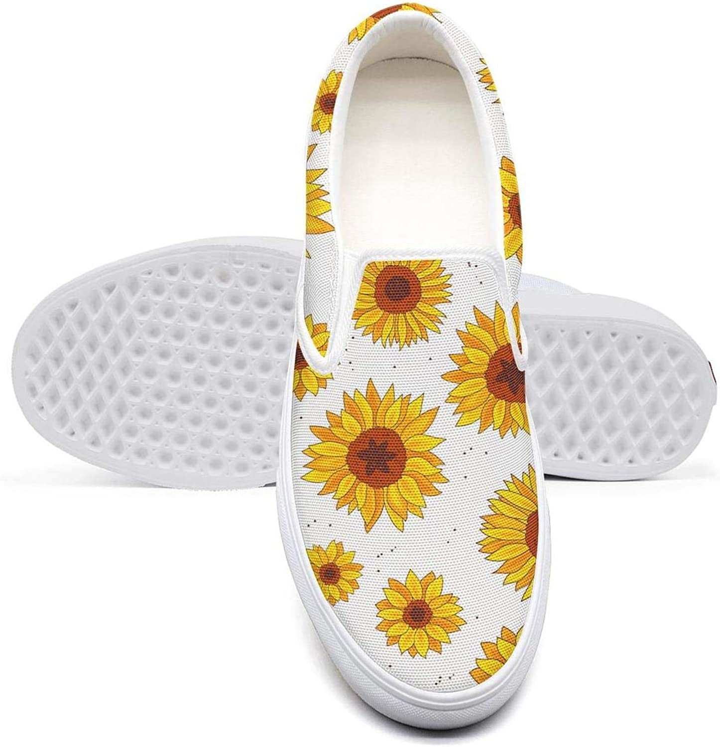 Mans Sunflowers Vintage Style Leaf Gym Shoes for Mens Spring Male Running Shoes