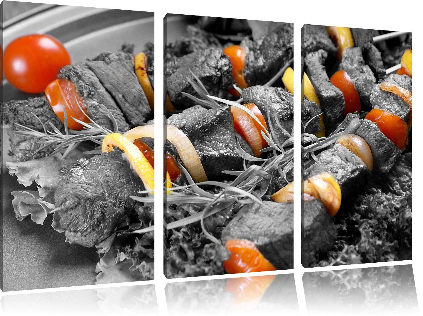 Juicy Shish Kebab con cebolla y tomates negro/blanco de 3 ...