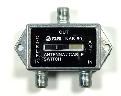 Coaxial A/B Game Antenna Cable TV CATV Switch