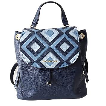 33231ac016a2 Amazon.com: Michael Kors Riley LG Backpack Black Studs Pale Blue  (35S8GRLB3L): Dazigno