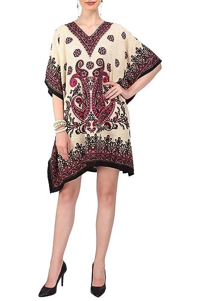 d543ae5fa60f0 Miss Lavish Kaftan Tunic Dress Evening Kimono Style Free Size Top Black