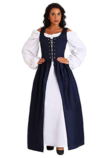 Navy Irish Renaissance Dress Costume - XS