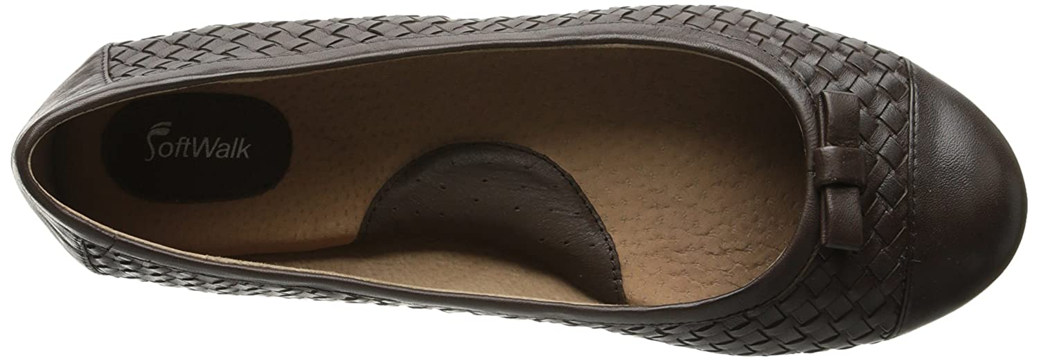 SoftWalk Women's 9 Naperville Ballet Flat B00HQQUP6K 9 Women's W US|Brown 45fd3f