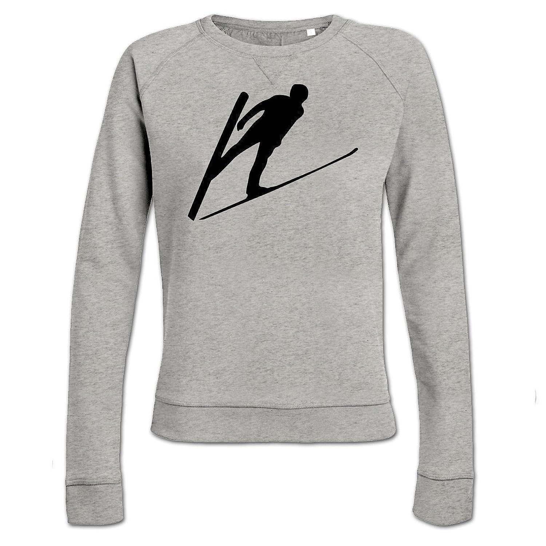 Ski Jumper Silhouette Frauen Sweatshirt by Shirtcity