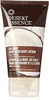 product image for Desert Essence Coconut Hand & & Body Lotion - 1.5 Fl Oz - Nourishing - Hydrates & Softens Skin - Silky & Smooth - Rejuvenates Senses - Tropical Extracts - Coconut, Jojoba Oil - Shea Butter