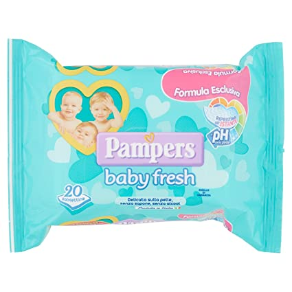 Pampers - Body Fresh - Toallitas húmedas - 20 toallitas
