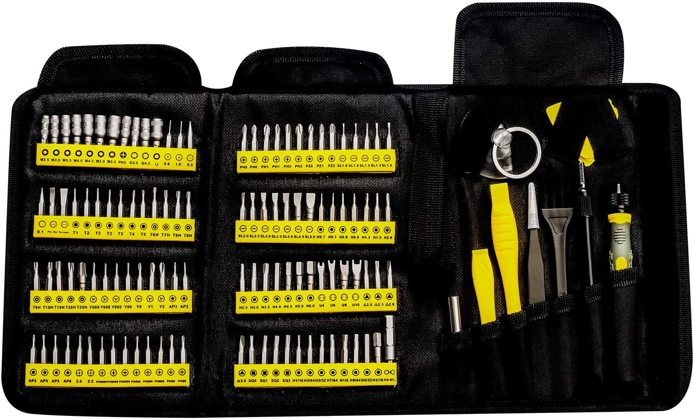 KER Precision Screwdriver Set, 126 in 1 Small Repair Tool Kit with Portable Bag for iPhone Mac iPad Tablet Laptop Xbox PS3 PS4 Eyeglasses Watch Cell Phone PC Camera: Home Improvement