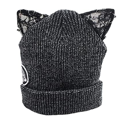 d207fd83e03 Image Unavailable. Image not available for. Color  Adorable Beanie Hat  Skully Hat Winter Knit Cap for Girls