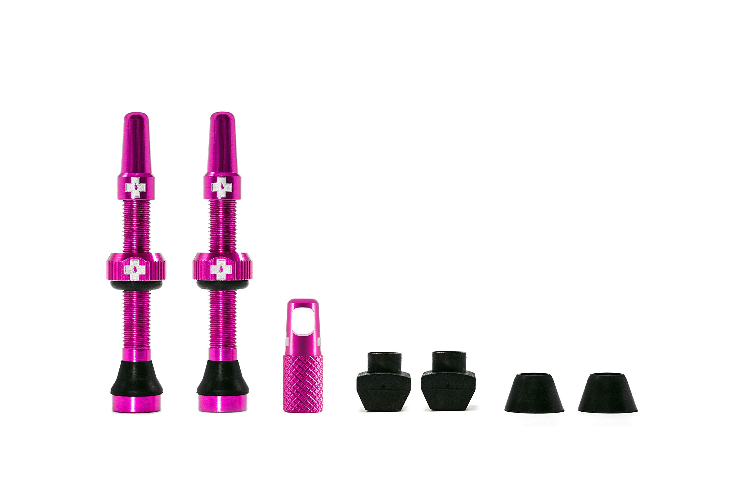 Muc Off Tubeless Valve Kit: Pink, fits Road and Mountain, 44mm, Pair by Muc Off