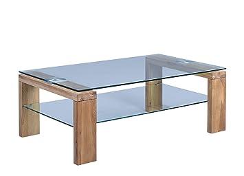 HomeTrends4You Mali Couchtisch, Holz, Wildeiche Massiv, 10 x ...