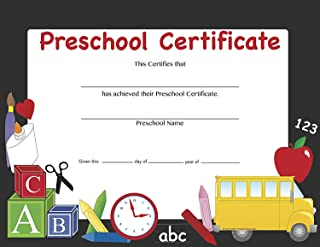 product image for Recognition Certificate - Preschool Certificate
