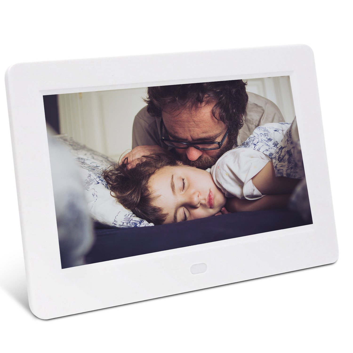 Digital Picture Frame, YENOCK 7 Inch Digital Frame IPS Screen 1024x600 Pixels High Resolution Photo/Music/HD Video Player/Calendar/Alarm Advertising Player With Remote Control