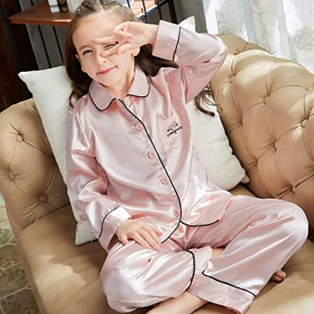 99613db268 Meng Wei Shop Children s summer pajamas girls spring and autumn long-sleeved  pajamas girls home
