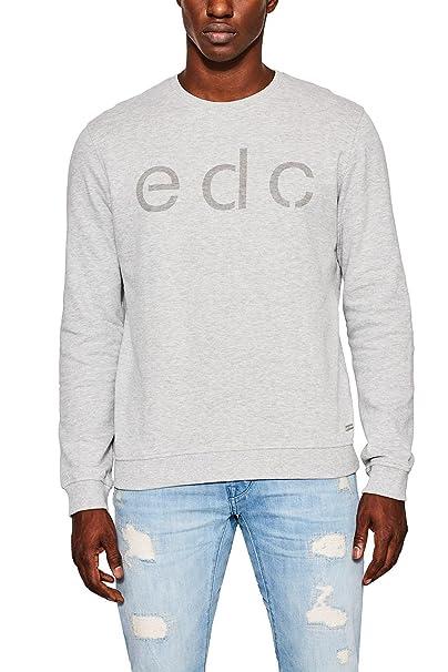 077cc2j005, Sudadera para Hombre, Gris (Grey 030), Small EDC by Esprit
