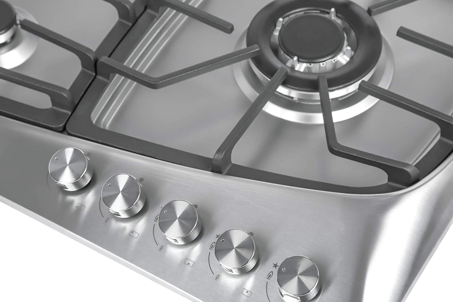 Empava 36 5 Italy Sabaf Burners Stove Top Gas Cooktop Stainless Steel LPG//NG Convertible EMPV-36GC901