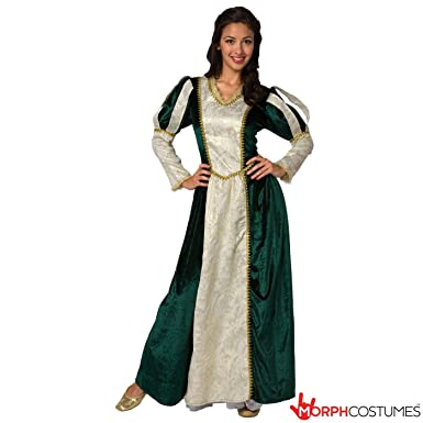 Amazon.com: Womens Medieval Queen Princess Fancy Dress Costume - 1 ...