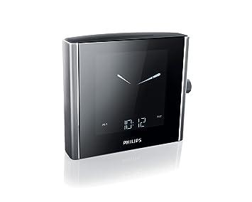 Philips AJ 7000 - Radiodespertador (alarma, pantalla LCD, FM/MW), plateado y negro (importado): Amazon.es: Electrónica