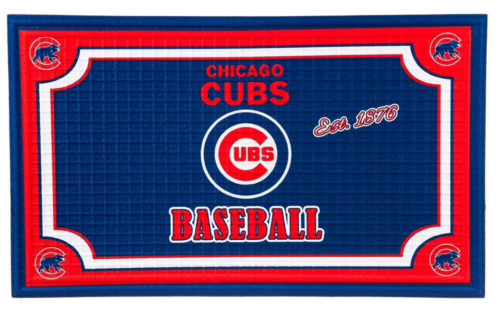 Team Sports America Chicago Cubs Embossed Floor Mat, 18 x 30 inches