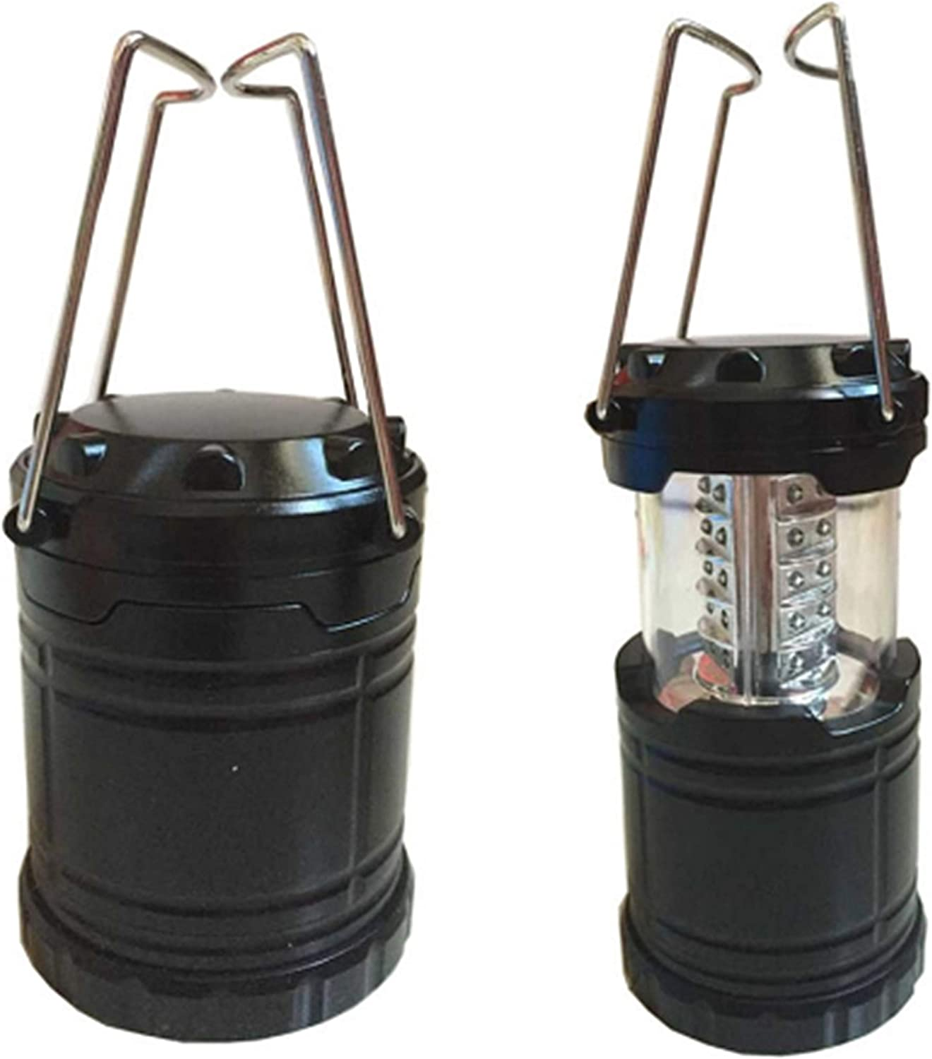 LIADO Outdoors LED Camping Lantern Portable with Auto On Off Function and Collapsible and Battery Operated for Outdoors, Camping, Hiking, Fishing, Collapsible, Black