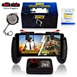 New mobile controller compatible with Pubg, Phones sizes 5.3in-7in, Cellphone triggers for mobile gaming, Gaming accessories Phone Bundle, iPhone & Android, BONUS– Phone Ring ,Triggers, Keychain