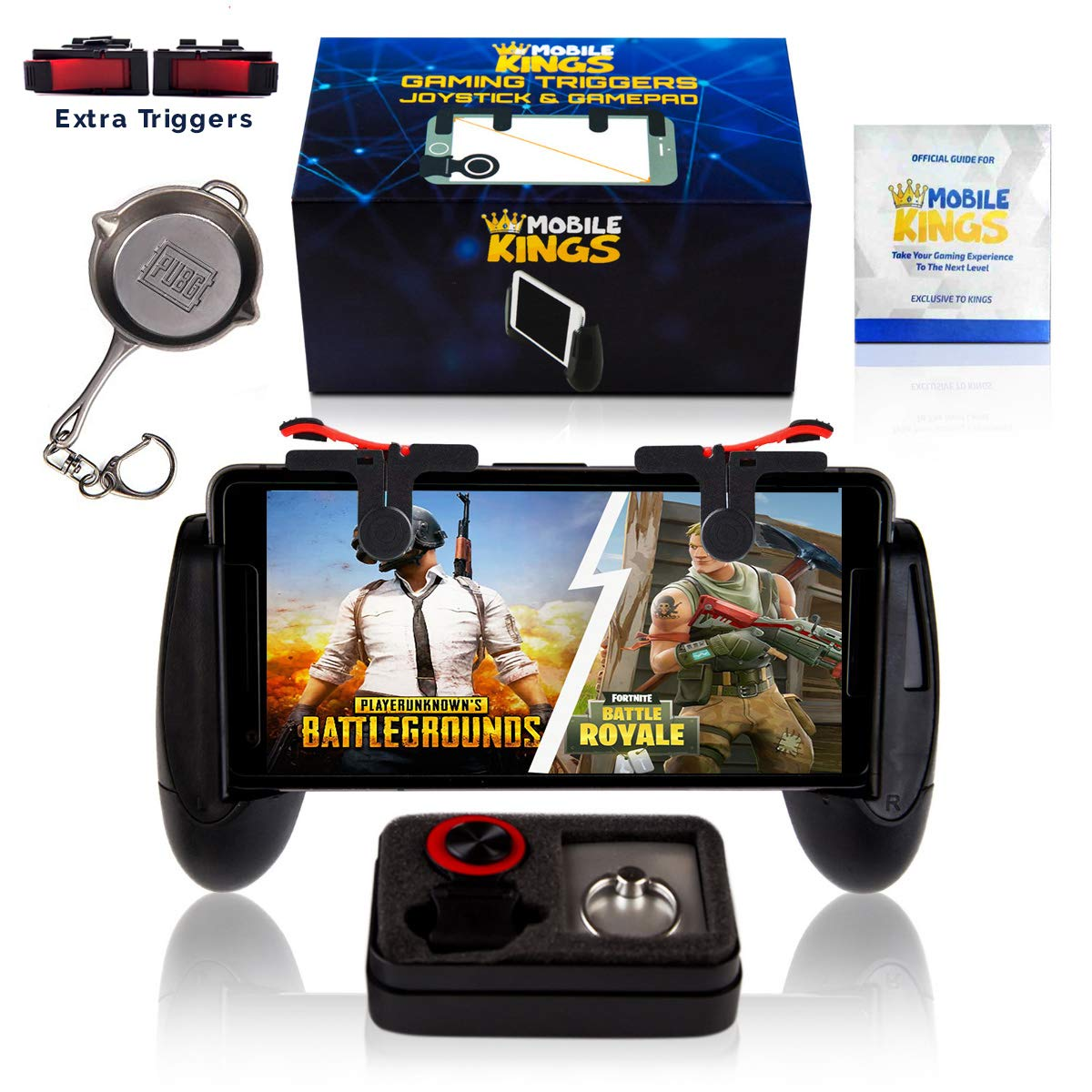 New mobile controller compatible with Pubg, Phones sizes 5 3in-7in,  Cellphone triggers for mobile gaming, Gaming accessories Phone Bundle,  iPhone &