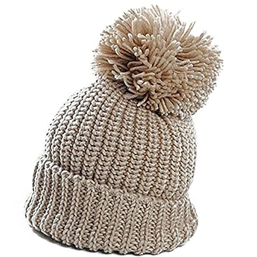 0a411c45e Amazon.com: Winter Women Slouch Knit Cap Warm Oversized Cuffed ...