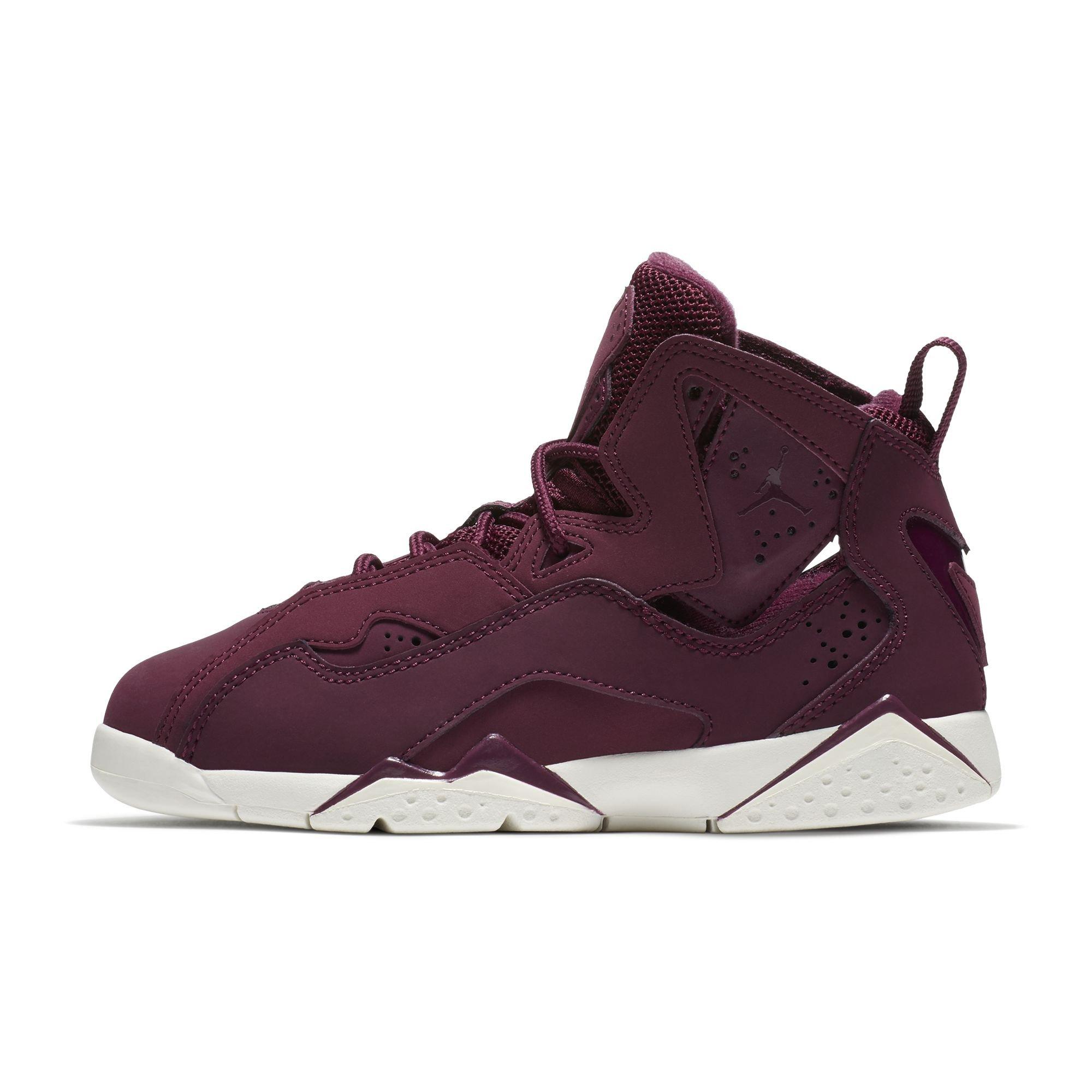 separation shoes 68b86 92912 Galleon - Jordan Nike Boy s True Flight Basketball Shoe (PS), Bordeaux  Bordeaux-Sail 1Y