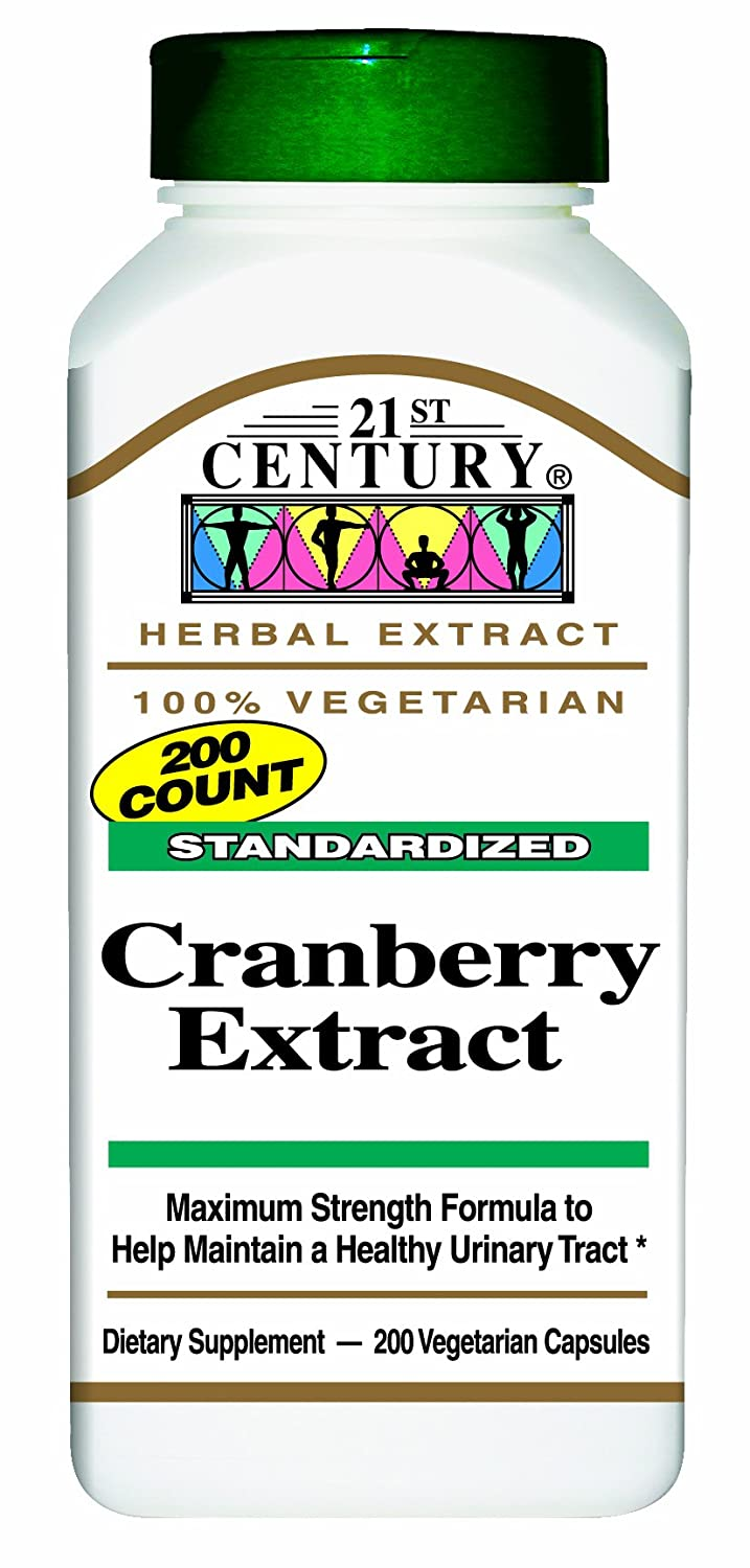 21st Century Standardized Herbal Extract Capsules, Cranberry Extract, 200-Count Bottles Pack of 2
