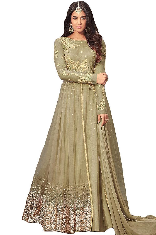 6f221b7d7a69 Amazon.com: Women's Anarkali Salwar Kameez Designer Indian Dress Ethnic  Party Embroidered Gown: Clothing