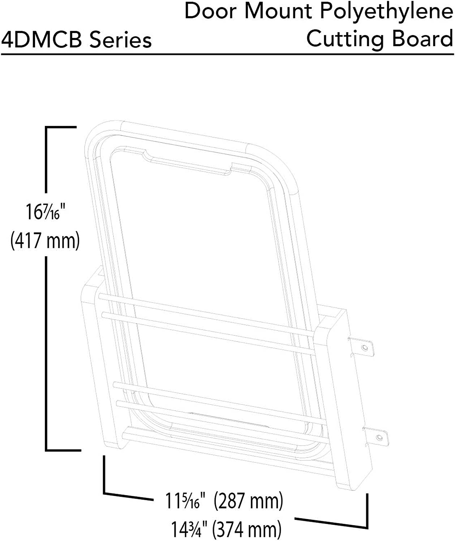 Rev-A-Shelf 4DMCB-18P Large Cabinet Door Mount Polymer Cutting Board
