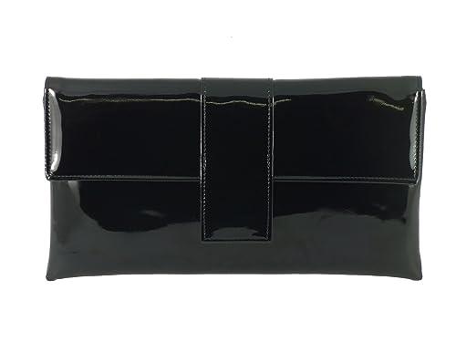 9bd7632b3c Sac À Main Pochette Bandoulière Élégant Simili Cuir Verni Occasion Fête en  noir