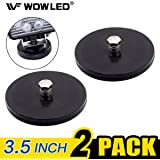 WOWLED 2 X Magnet Base Mount Bracket with Rubber Pad For LED Work Light LED Light Bar