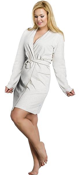 Merry Style Batas Tallas Grandes Plus Size Ropa de Cama Interior Lencería Mujer 1045 (Beige