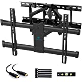 "PERLESMITH Full Motion TV Wall Mount for Most 37-70 Inch TVs up to 132lbs - Fits 16"", 18"", 24"" Wood Studs - Articulating…"