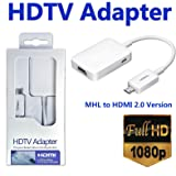 O2+ MHL Mirco USB to HDMI HDTV Adapter for Samsung Galaxy (MHL Enabled Devices only). Please check compatible device before purchase