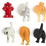 Juvale Set of 6 Dog Butt Magnets - Funny Animal Refrigerator Magnets, Perfect Animal Lover Gifts