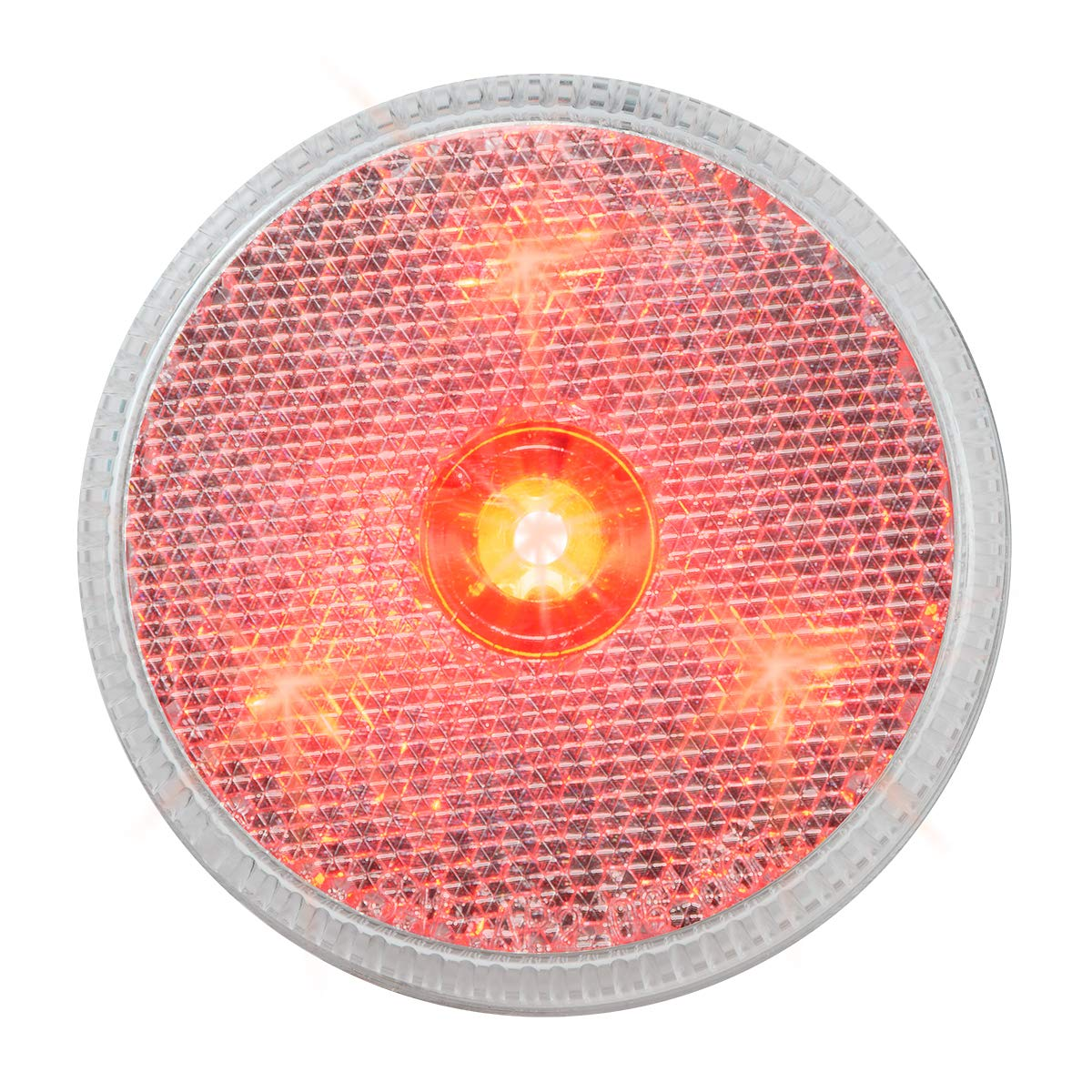2.5 Reflector Red Marker LED 4-, Clear Lens Grand General 76973 Light