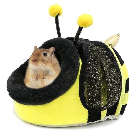 Pequeña casa de animales, hámster de algodón de peluche, casa de ratas Nestcute,