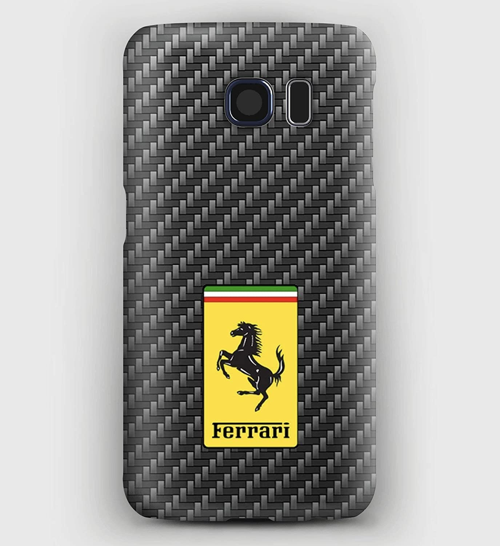 Carbon & Ferrari, Cover Samsung S5, S6, S7, S8, A3, A5, A8, J3, J5, Note 5,8,9
