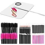 Makeup Mixing Palette with Spatula and 250PCS Disposable Makeup Applicators Tools Kit (Disposable Mascara Wands, Lipstick App