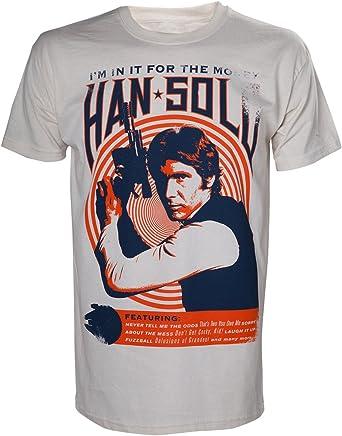Star Wars Han Solo Vintage Rock Camiseta para Hombre: Amazon.es: Ropa y accesorios