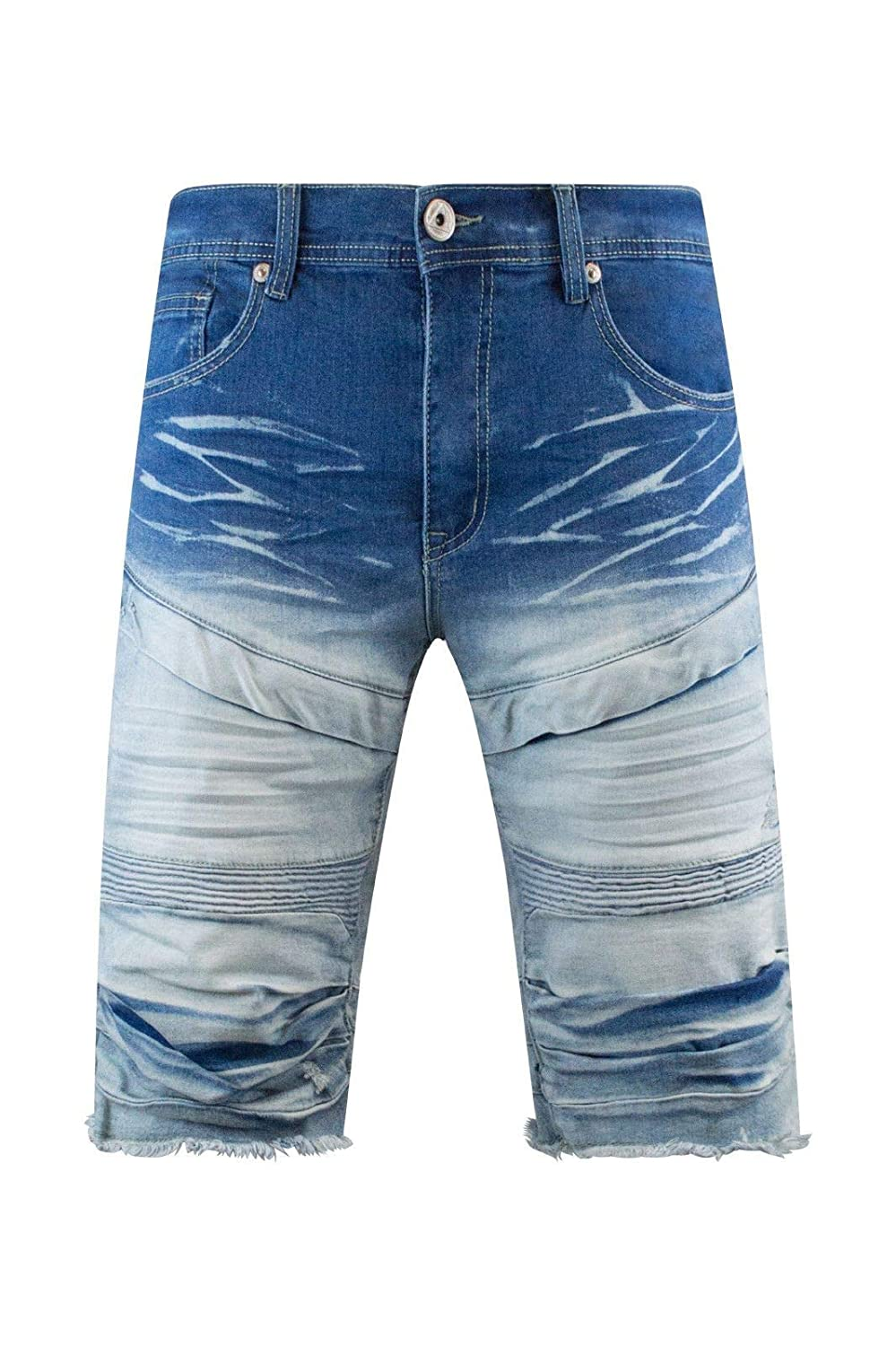 Trending Apparel Men Denim Biker Stripped Shorts