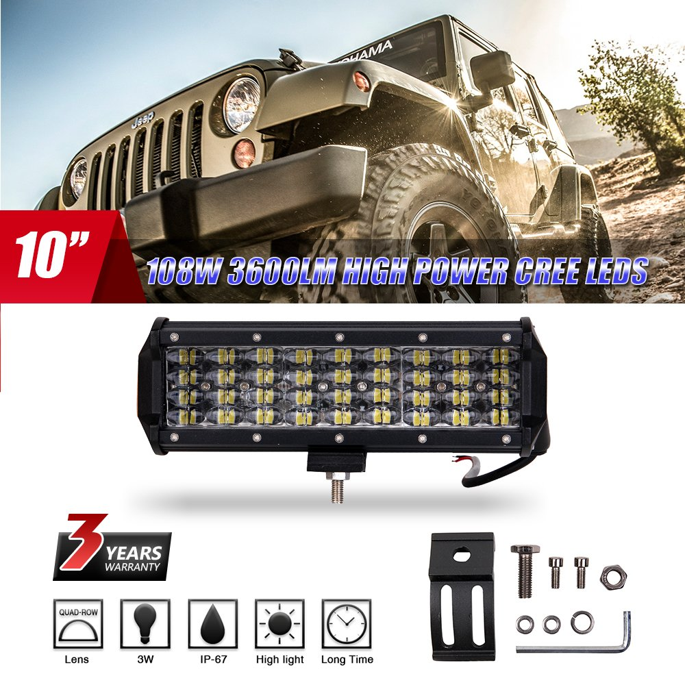 Color Tree DY81  4  file kit LED light bar flood work off Road driving lampada LED IP68  impermeabile fari