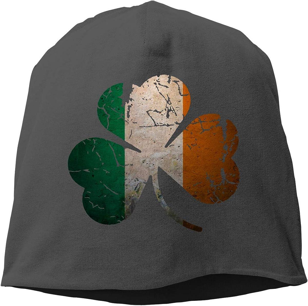 Winter Warm Daily Hat Vintage Irish Shamrock Beanie Skull Cap for Women and Men
