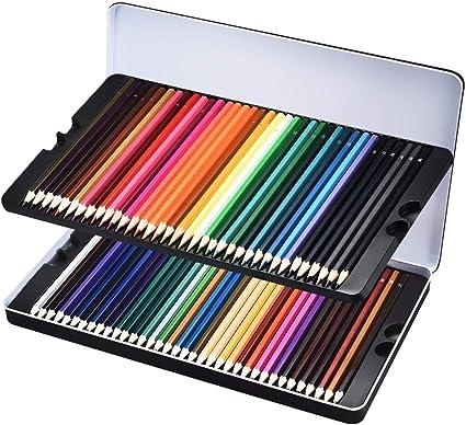 Lismile 72 lápices de colores de madera con caja【 72 colores 】: Amazon.es: Electrónica