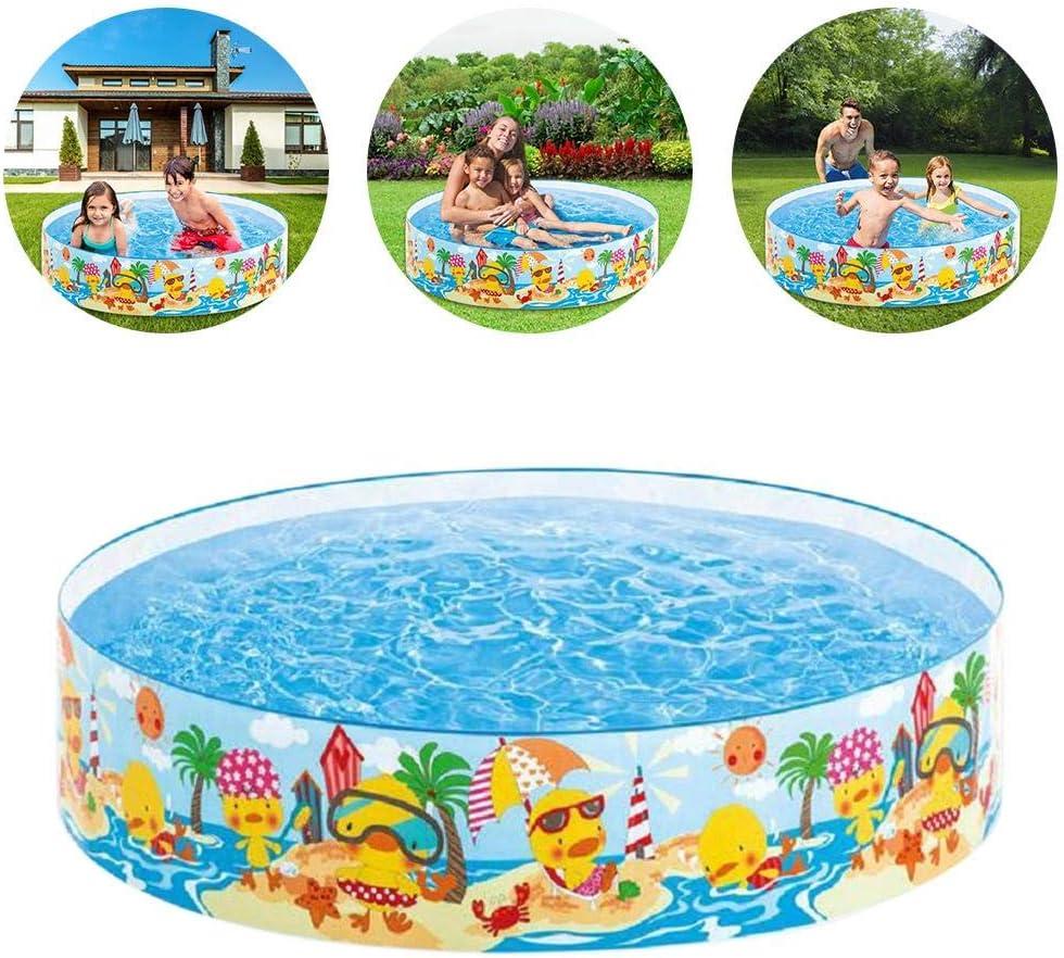 Patuaje redondo de 43 x 10 pulgadas, gran piscina familiar, piscina hinchable para niños de verano al aire libre para patio de jardín: Amazon.es: Deportes y aire libre